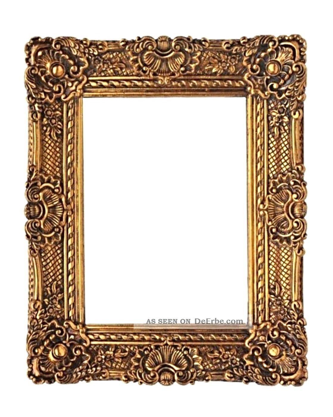 barockrahmen 60 x 50 cm gem lde prunkrahmen gold bilderrahmen mit aufh nger. Black Bedroom Furniture Sets. Home Design Ideas