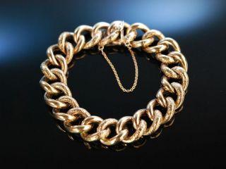 Antique Bracelet Historisches Armband Silber 800 RosÉ Vergoldet Um 1890 MÜnchen Bild