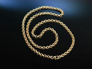 Goldene Erbs Kette Historisch Gold 585 Necklace Bild