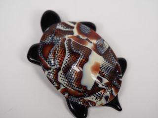 Lea Stein Schildkröten Brosche.  Tortoise Pin. Bild