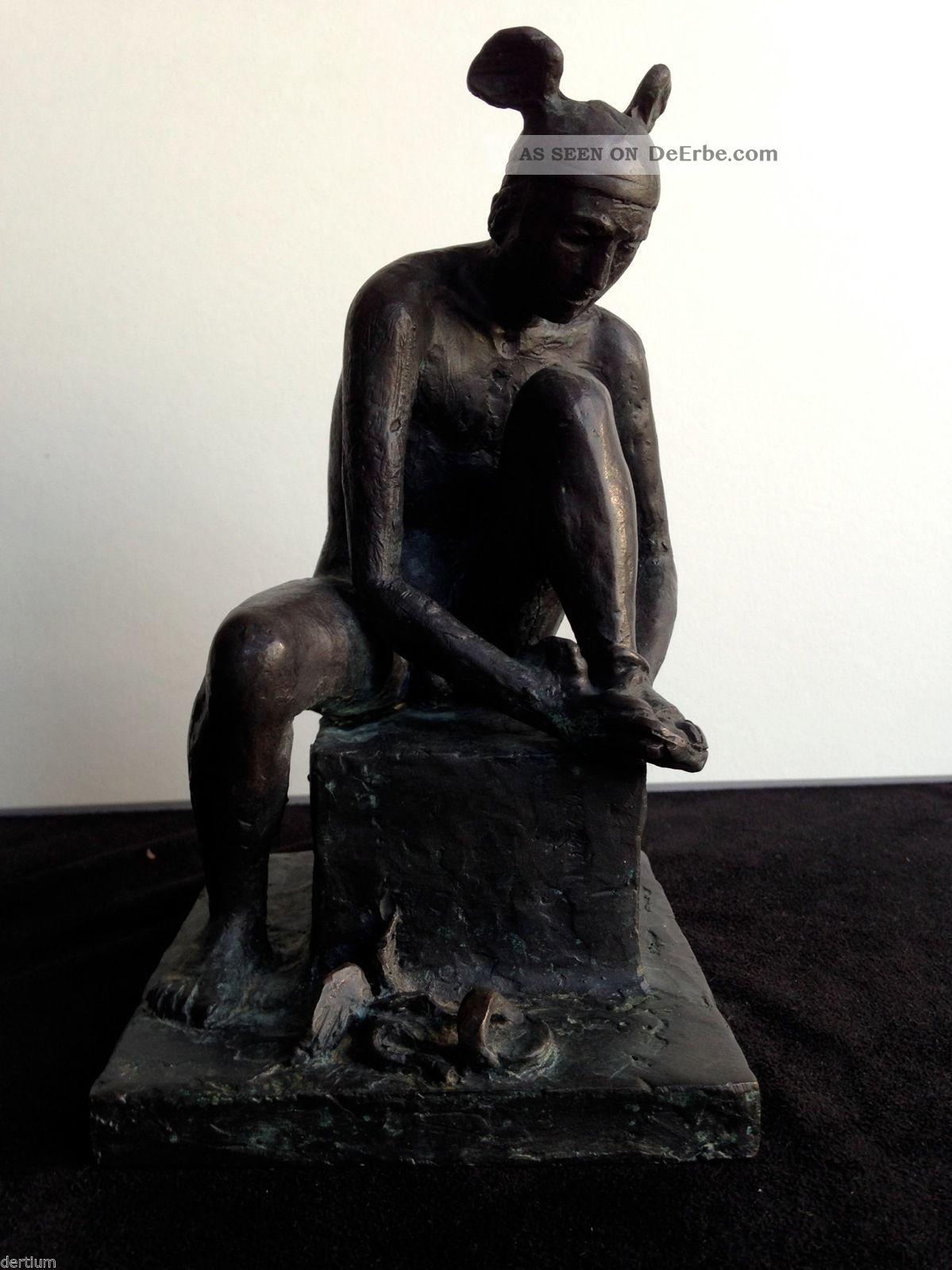 Olaf Höhnen 1933 - 2009 - Bronze - Hermes Sich Die Schuhe Bindend 1950-1999 Bild