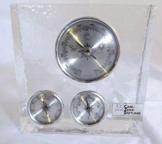 Glasblock Barometer Thermometer 100 Jahre Carl Zeiss Stiftung Gesuchte Rarität Bild
