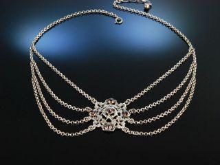 Zur Wiesn Trachten Kette Silber Granate MÜnchen Um 1930 Garnet Necklace Vintage Bild