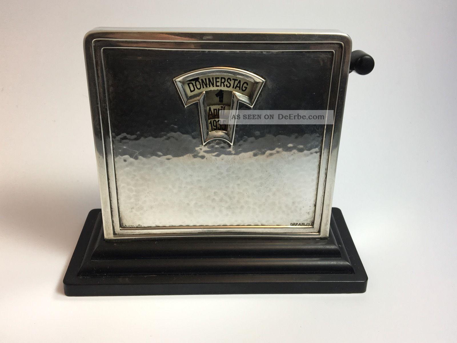 Bauhaus Wilhelm Binder Dauerkalender 835er Silber Seltenheit 1920-1949, Art Déco Bild
