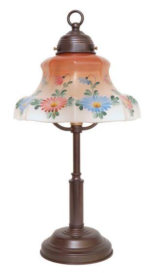 Sehr Niedliche Jugendstil Shabby Chic Tischleuchte Lampe Handgemalt Bild