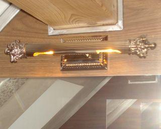 Luxus Bilderleuchte Bilderlampe Bilderleuchter Wandleuchter 2fla Silber 40cm Bild