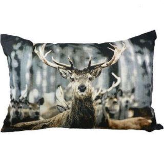Kissen Winter Hirsch Sofakissen Dekokissen 60 X 40 Cm Mit Inlet Deer Bild
