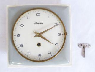 Vintage Mid Century Küchenuhr Mit Kieninger Uhrwerk - Pastellfarben Bild