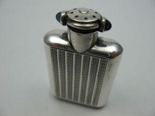 Wunderschöner Alter Parfüm Flacon Aus 935 Silber Mit Saphir Cabouchons Bild