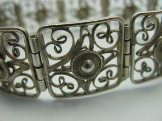 Handarbeit Klasse Altes Filigran Gearbeitetes Armband Aus 835 Silber Bild