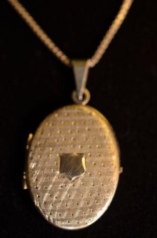 Schönes Altes Jugendstil Medaillon Klappetui Silber 835 Bild