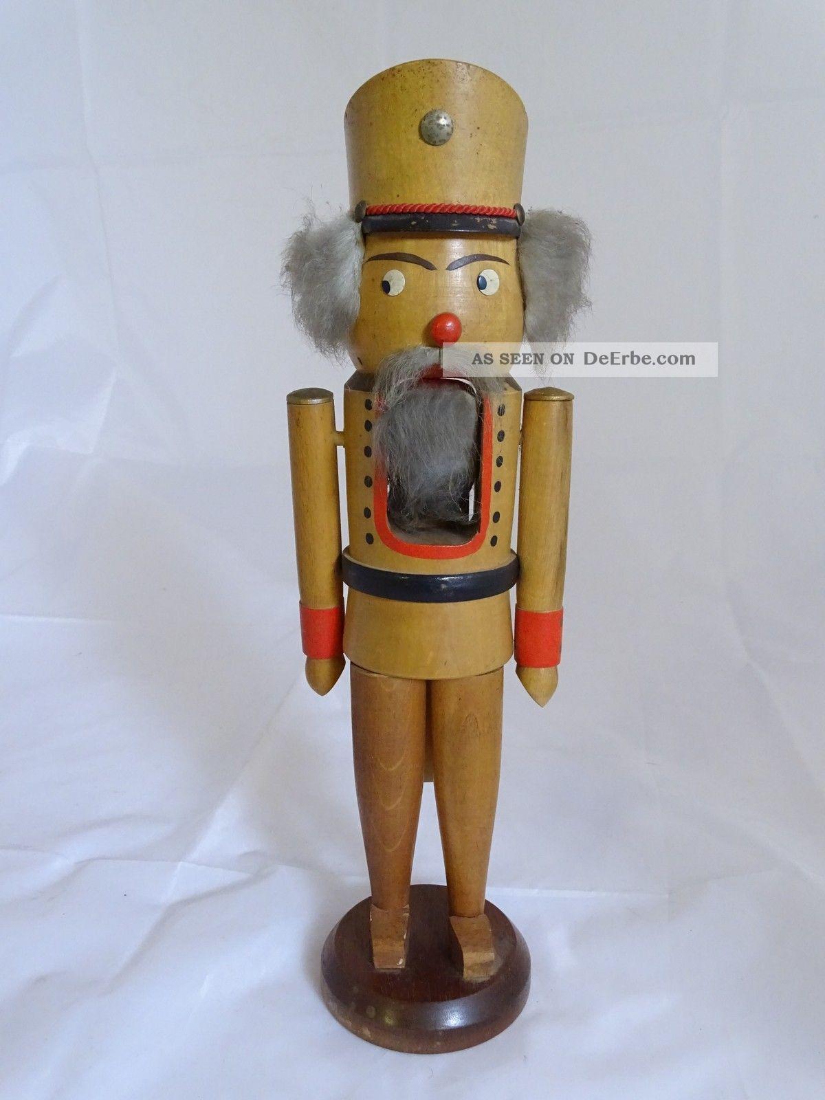 Erzgebirge Sehr Alter Nussknacker Weihnachten Sammel Rarität Ca.  37 Cm Objekte nach 1945 Bild