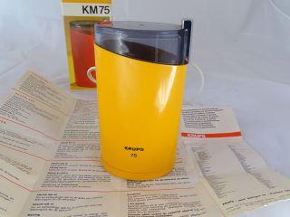 Vintage Panton Ära Krups Kaffeemühle Km 75 Orange Inkl.  Ovp Elektrisch Bild