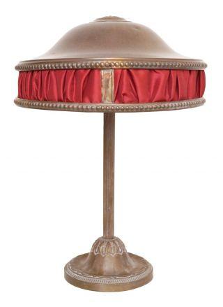 Wunderschöne Jugendstil Art Déco Schreibtischlampe Messing 1930 Bild