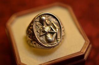 Schöner Alter Ausgefallener Silber 835 Damenring Bild