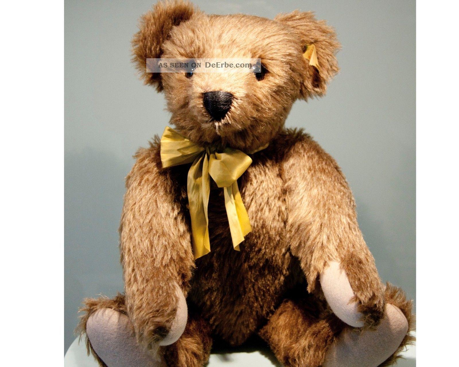 Grosser Steiff Teddy Teddybär ♥ Classic Bär 1909 Knopf Fahne Mohair Unbespielt Stofftiere & Teddybären Bild