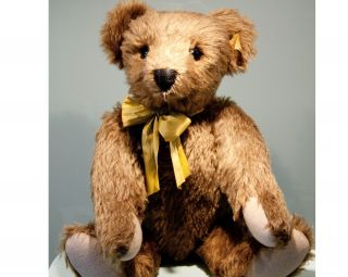 Grosser Steiff Teddy Teddybär ♥ Classic Bär 1909 Knopf Fahne Mohair Unbespielt Bild
