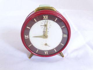 Junghans Bifox Mid Century Wecker In Rot Extra Sekunde Volle Funktion Bild