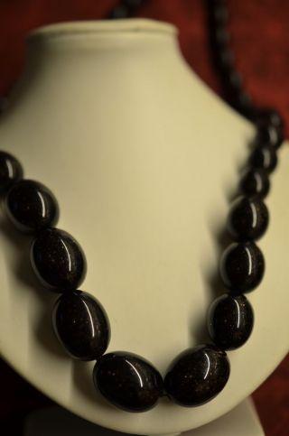Schöne Alte Halskette In Olivenform Bild