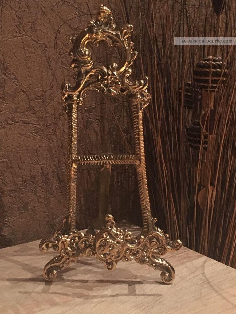 Staffelei Messing Antik Stil Edel Verziert Gefertigt nach 1945 Bild