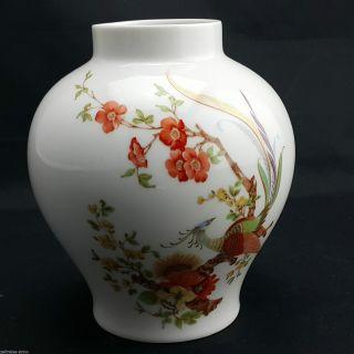 Porzellan Vase Ak Kaiser Olivia Florale Weiß Mit Bunten Paradiesvögel 21cm Hoch Bild