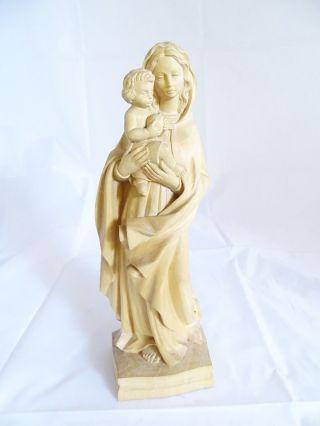 Madonna Mit Kind Hochwertige Handarbeit Geschnitzte Skulptur Figur Oberammergau Bild