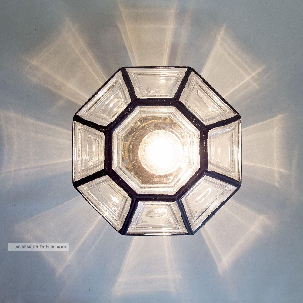 GlashÜtte Limburg 8 - Eckig Deckenlampe Leuchte 60s Iron Design Pendant Lamp 1970-1979 Bild