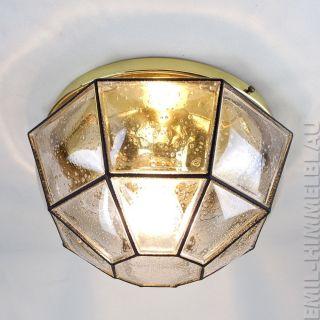 8 - Eckig GlashÜtte Limburg Deckenlampe Leuchte 60s Iron Glass Design Pendant Lamp Bild