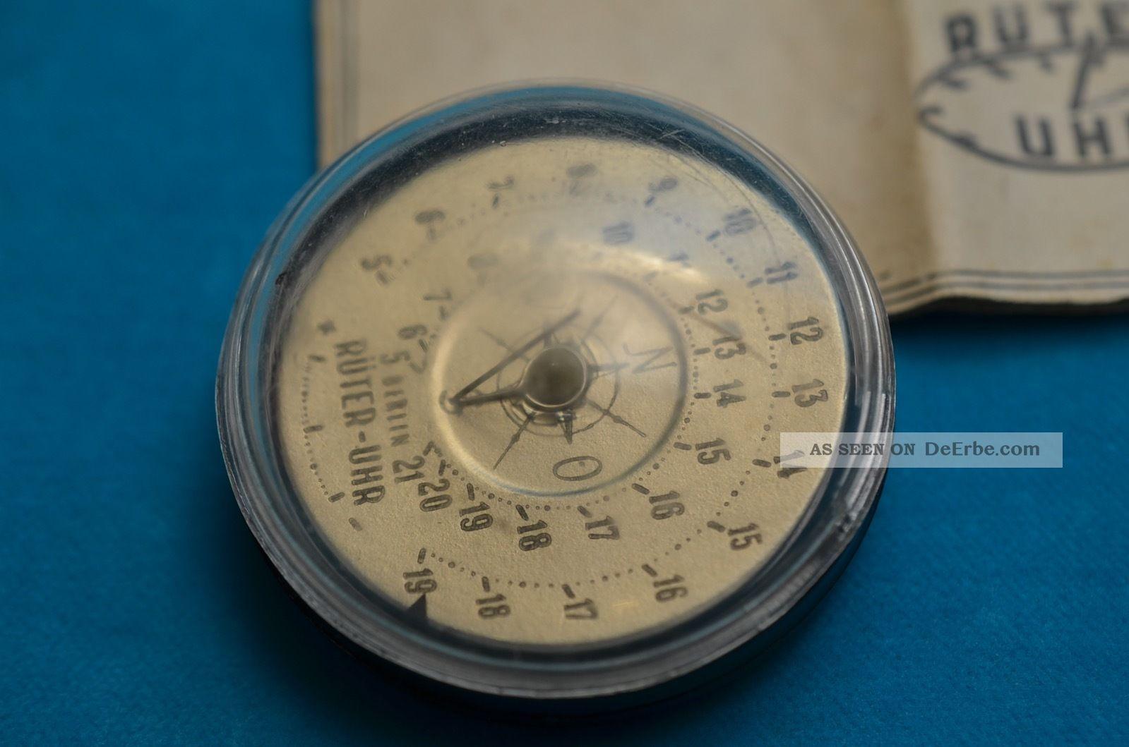 Rarität Dr.  Rudolf Rüter Sonnenuhr Kompass Berlin 1945/1946 Mit Beschreibung Technik & Instrumente Bild