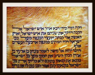 Thora - Fragment Auf Reh - Haut,  Damhirsch,  Hebräische Handschrift,  Um 1500 - Rar Bild
