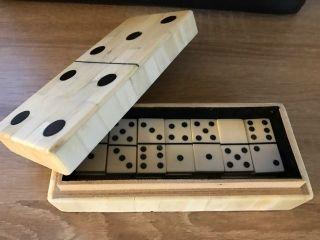 Nostalgie Antik Stil Domino Spiel Aus Knochen Bild