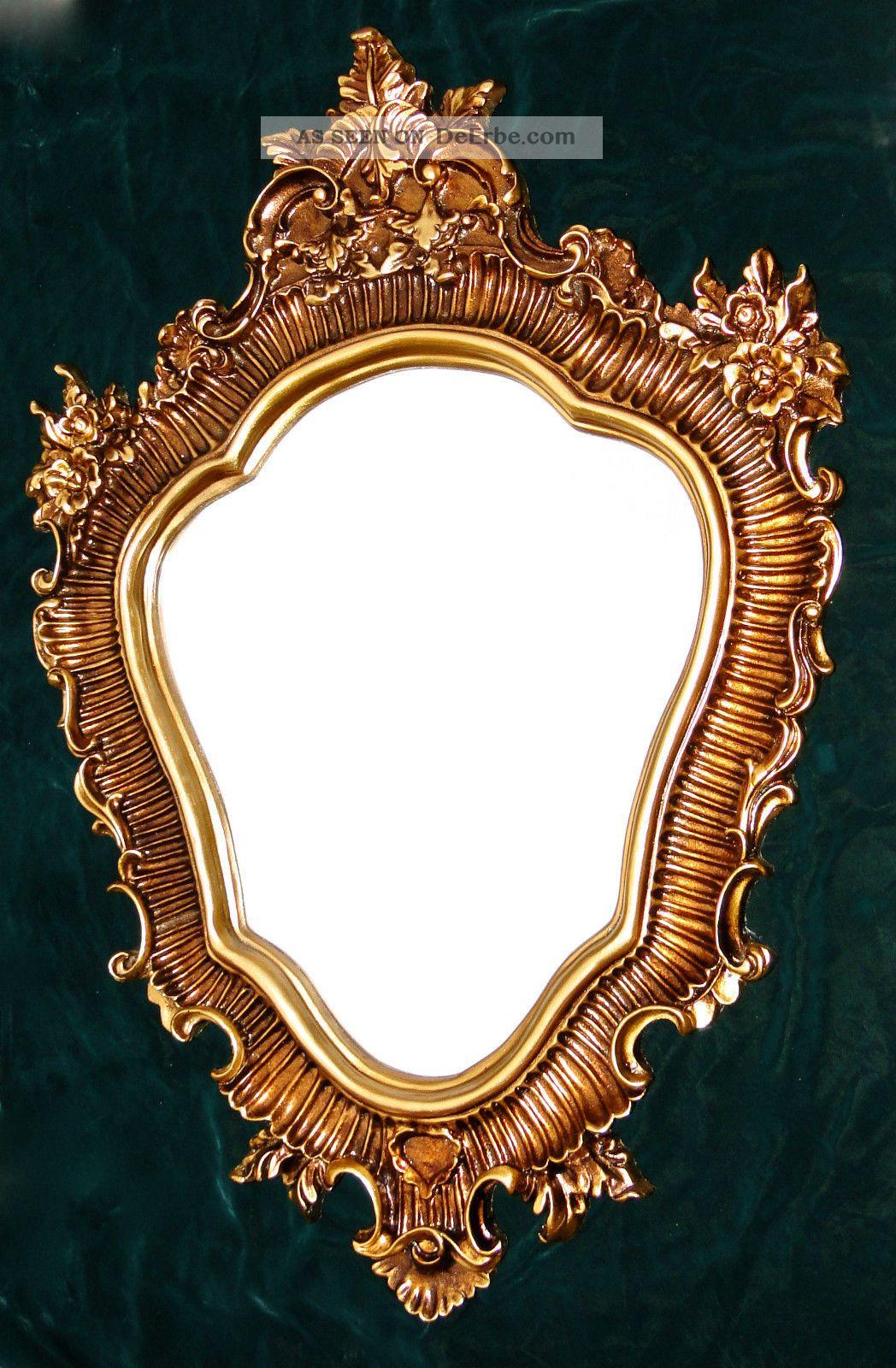 gro er wandspiegel barock oval 103x73cm badspiegel antik spiegel gold. Black Bedroom Furniture Sets. Home Design Ideas