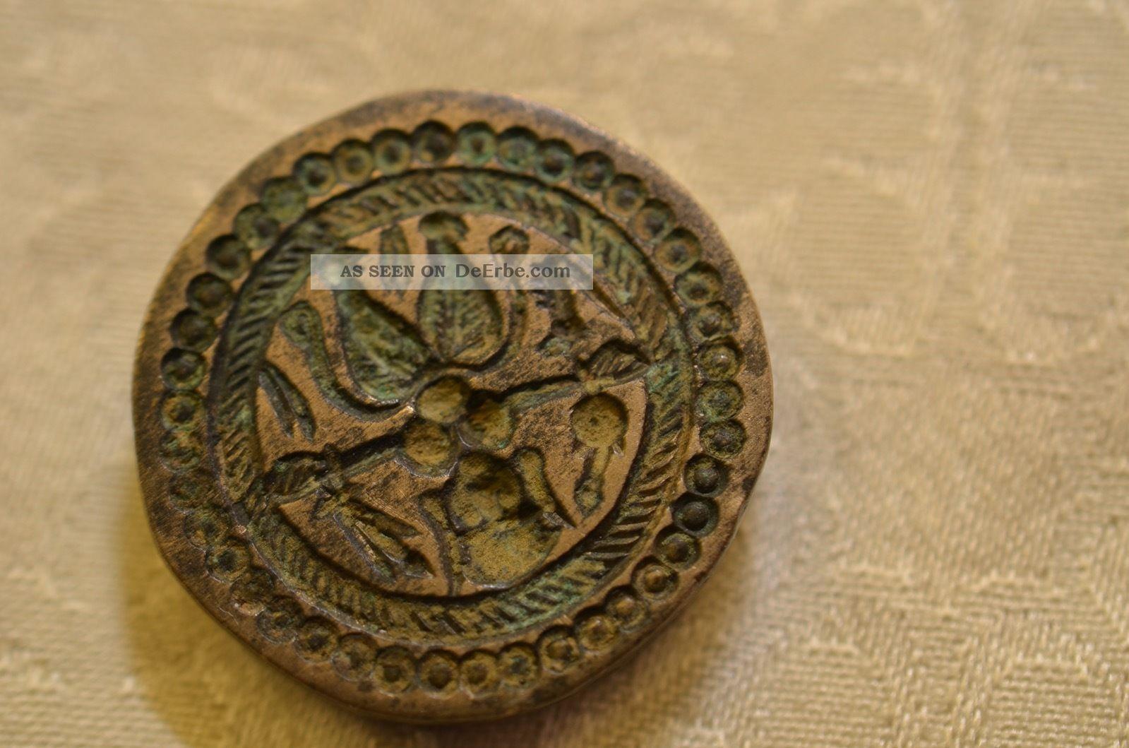 Altes Ausgefallenes Bronze Siegel Um 1900 Antike Originale vor 1945 Bild