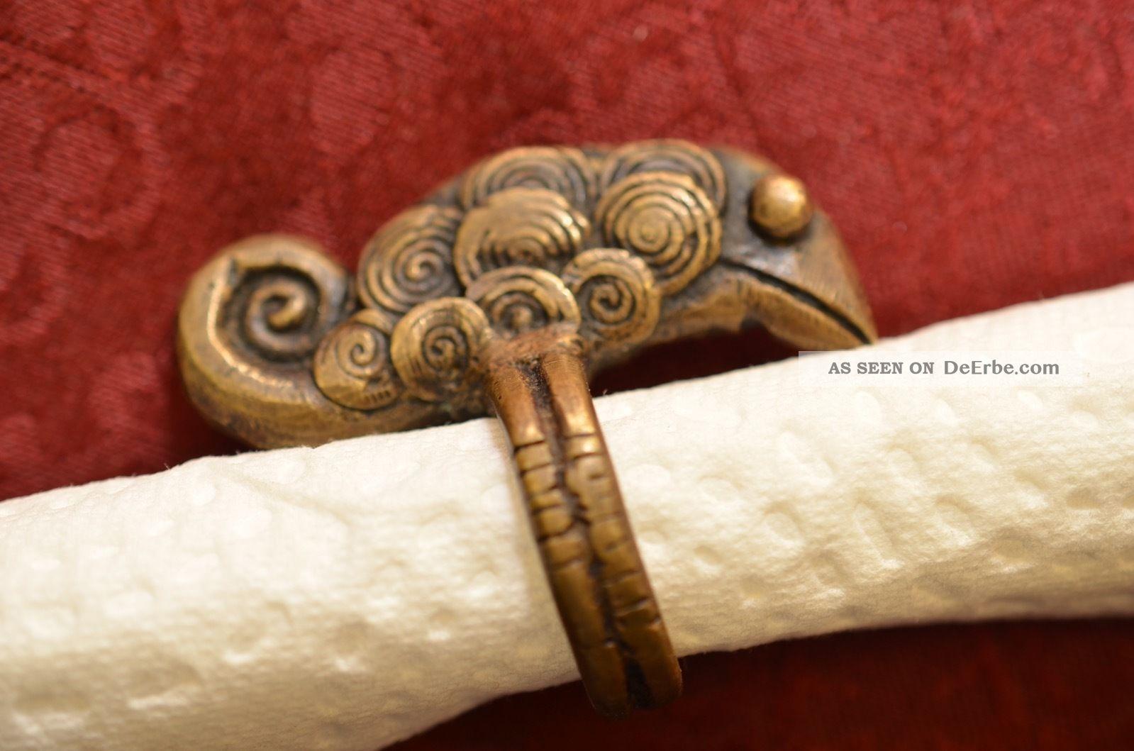 Alter Antiker Ausgefallener Bronze Ring Um 1900 Ringe Bild