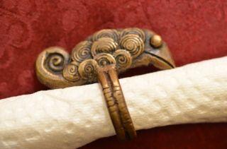 Alter Antiker Ausgefallener Bronze Ring Um 1900 Bild
