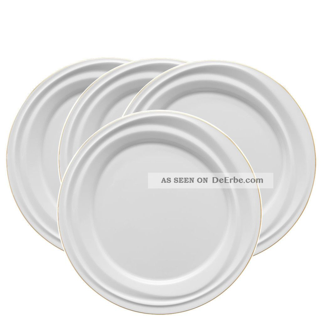 4 X Rosenthal Nendoo Goldband Frühstücksteller 23cm Porzellanteller Goldrand Nach Marke & Herkunft Bild