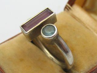 Handarbeit Klasse Designer Ring Aus 925 Silber Mit Verschiedenen Steinen Bild