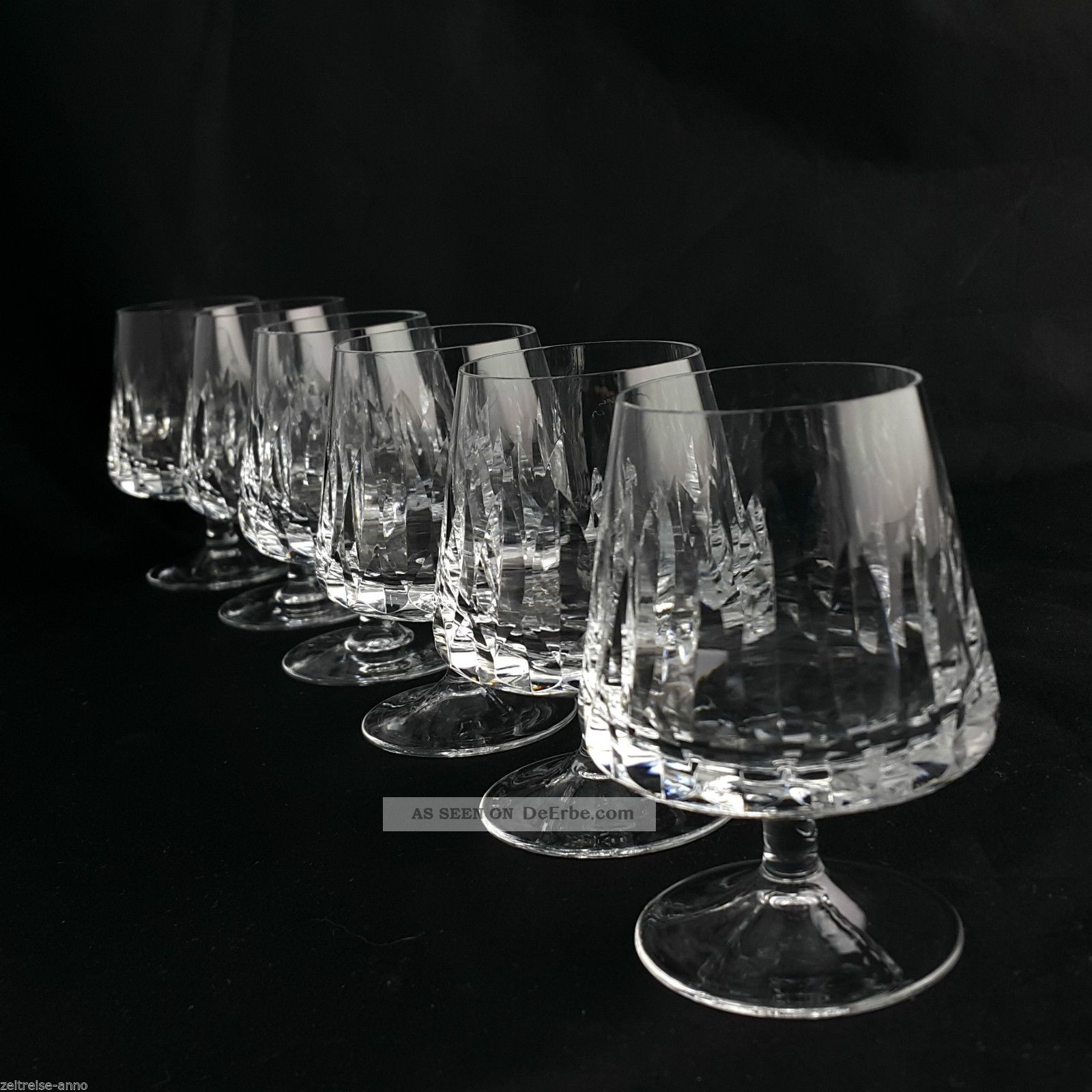 Nachtmann Cognacgläser Helena 6 Vintage Kristall Gläser Toll Erhalten Kristall Bild