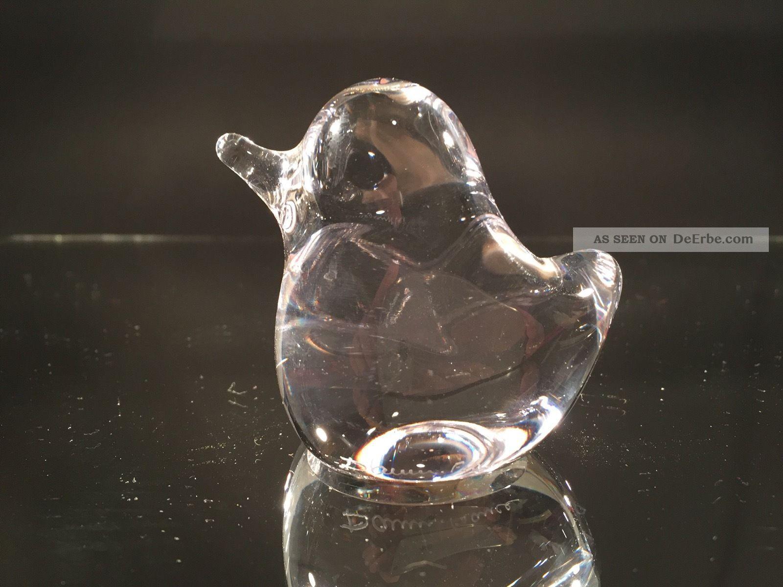 Vogel - Glas,  Signiert Daum France Sammlerglas Bild