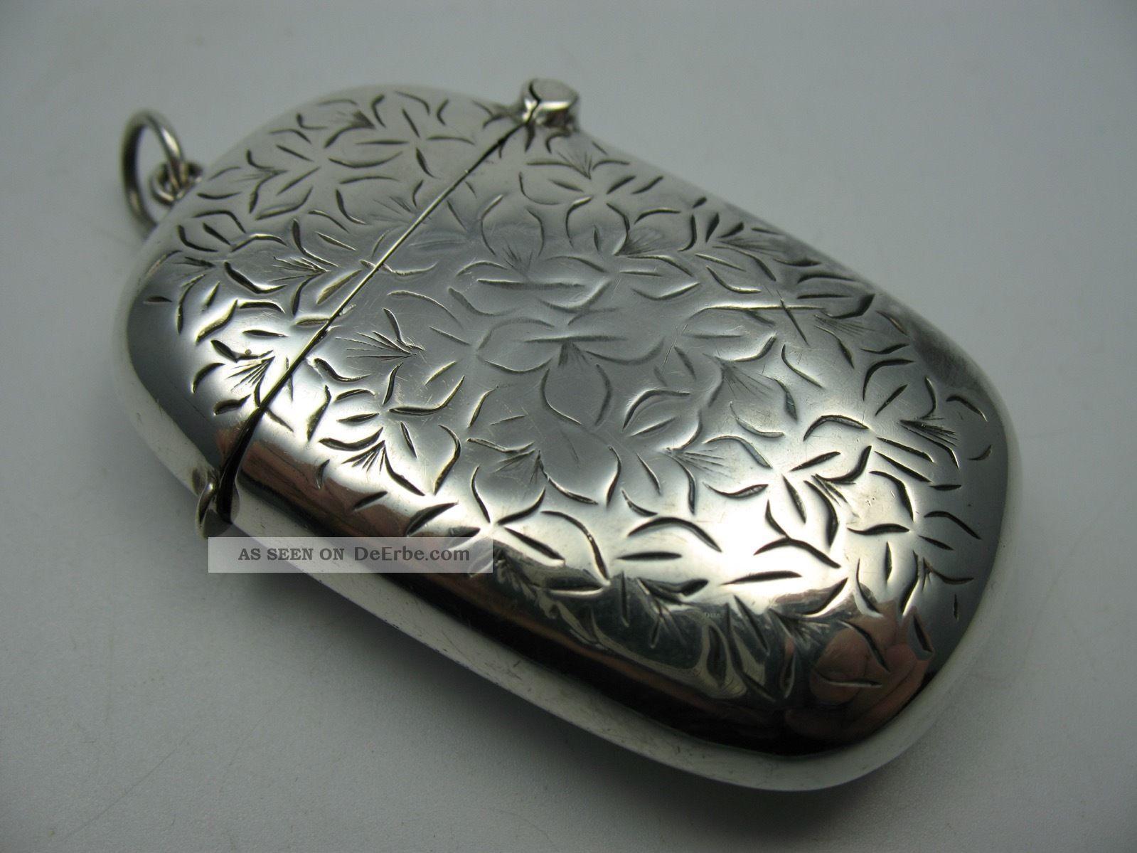 Wunderschönes Altes Streichholzetui Um 1910 Aus 925 Sterling Silber Objekte vor 1945 Bild