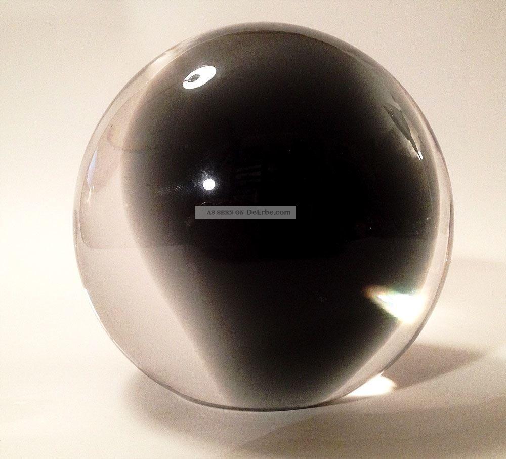 Paperweight Presse Papiers Briefbeschwerer Glas Schwarze Hälfte Dekorglas Bild