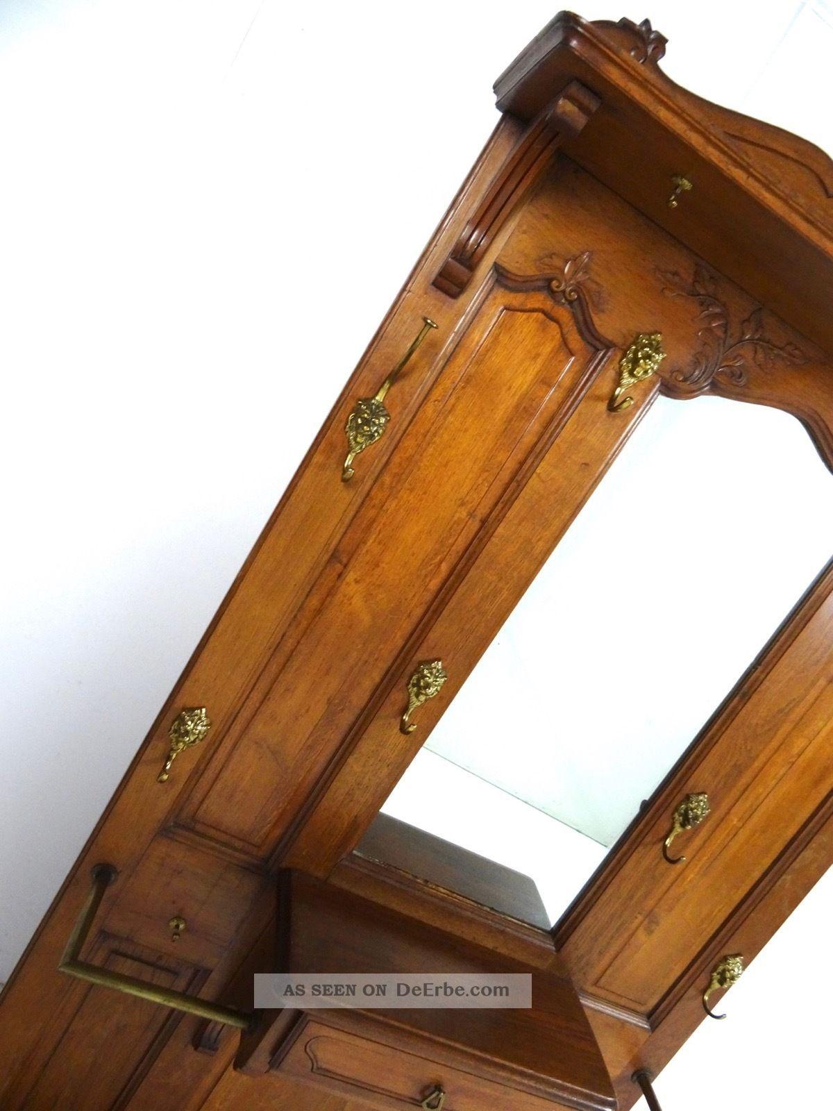 gro e jugendstil garderobe art nouveau standgarderobe antik m bel frankreich. Black Bedroom Furniture Sets. Home Design Ideas