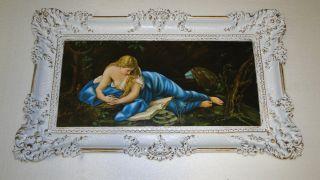 Gemälde Rahmen Bilderrahmen Antik Maria Magdalena Maria 97x58 Bild Mit Rahmen Bild