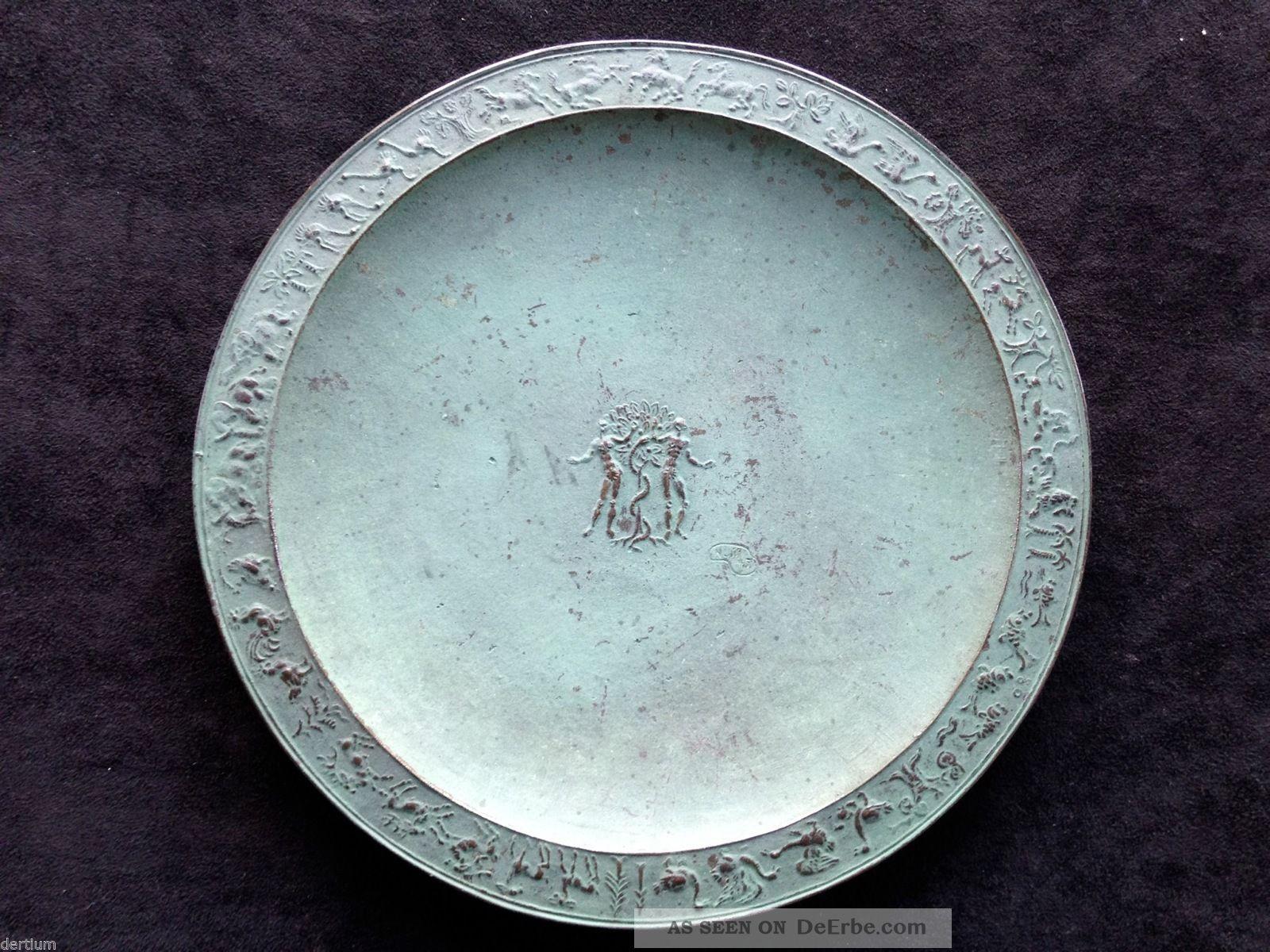 Fritz Nuss 1907 - 1999 Bronze Reliefteller Adam Und Eva - Signiert Und Datiert 1947 1950-1999 Bild