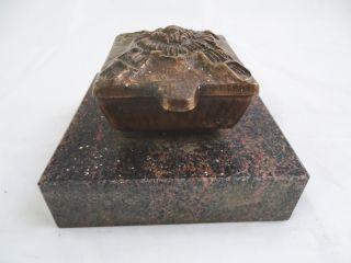 Massive Weihwasser Schale Spender Wohl Bronze Auf Sockel Wohl Marmor Grabschmuck Bild