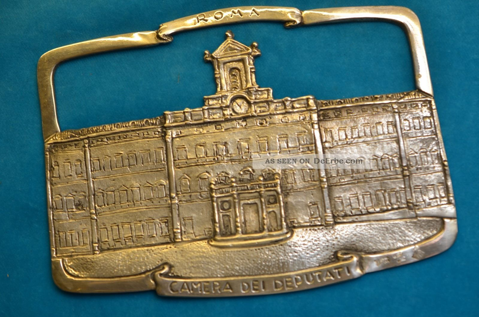 Silberrelief Roma Camera Dei Deputati Parlamentsgebäude Silber 800 Signiert Objekte nach 1945 Bild