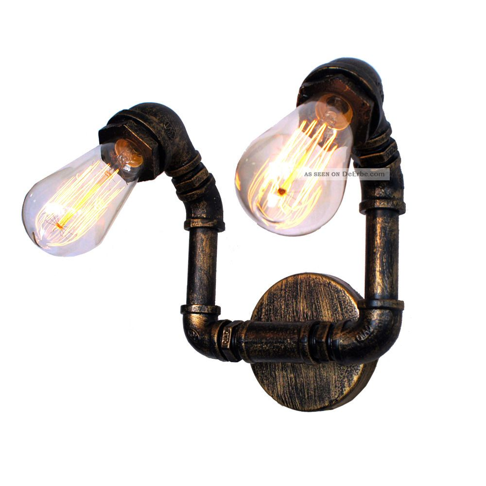 Antik Rustikal Dualhead Wandlampe Wandleuchte Inkl.  40w Edison Glühbirnen 1920-1949, Art Déco Bild