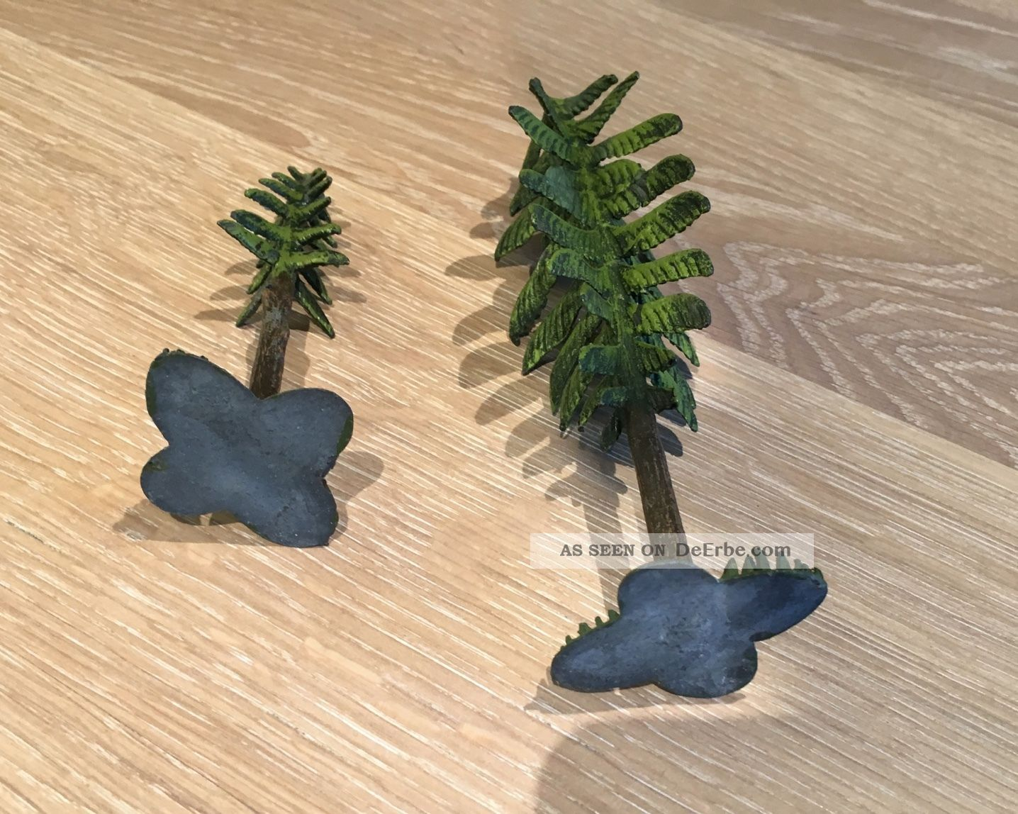 Heyde Dresden 2 Bäume Tannen Selten Blechspielzeug Original, gefertigt vor 1945 Bild