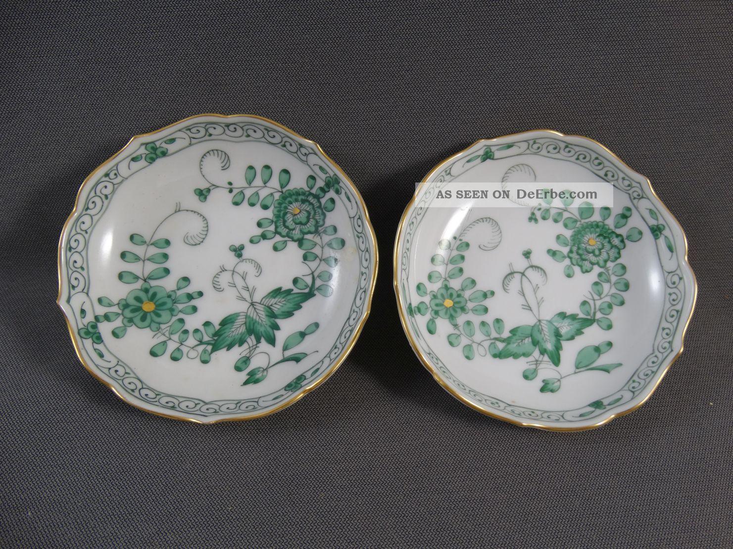 Meissen Indisch Grün 2 Kleine Schalen Meissen Bild
