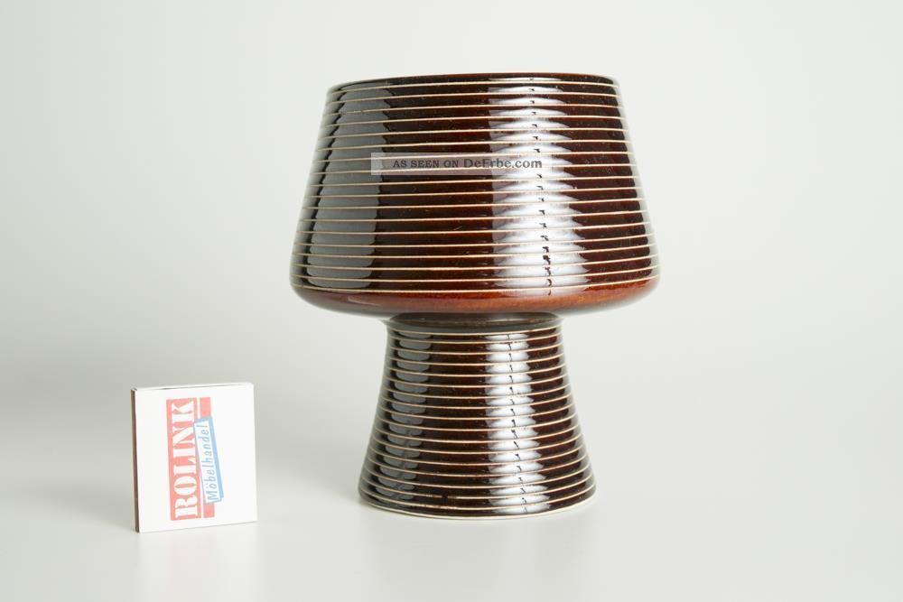 Sockel - Vase,  Schale Aus Keramik In Braun Aus Den 50er,  60er,  70er Jahre Nach Form & Funktion Bild